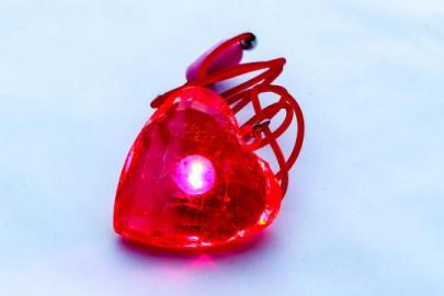 Leuchtkristall Herz