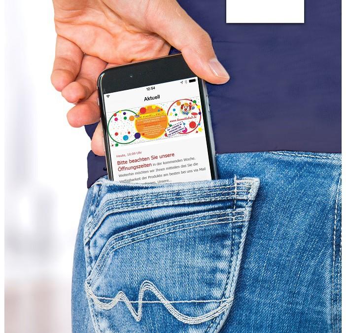 De Kamellebud-App für iOS und Android