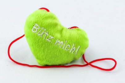 """Bütz mich"" Herz grün"