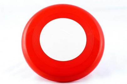 Frisbee Scheibe rot/weiß