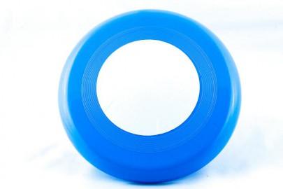 Frisbee Scheibe blau/weiß