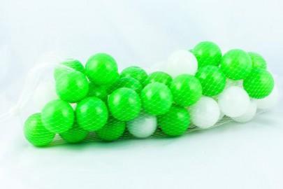 Plastikbälle 8cm grün/weiß