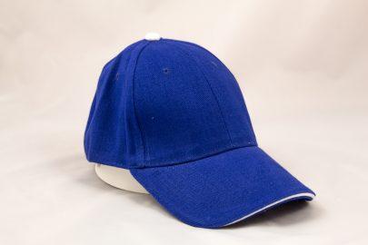 Cap blau/weiß