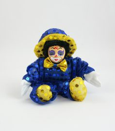 Palliettenclown kl. blau/gelb