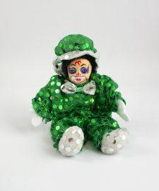 Palliettenclown kl. grün/weiß