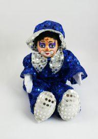 Palliettenclown gr. blau/weiß
