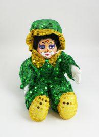 Palliettenclown gr. grün/gelb
