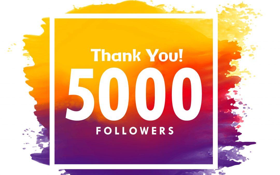 Wir sagen DANKE für 5000 Follower auf Facebook!